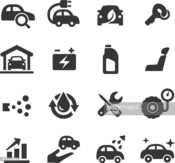 illustrations, cliparts, dessins animés et icônes de de maintenance icônes-série d'acme - station de lavage auto