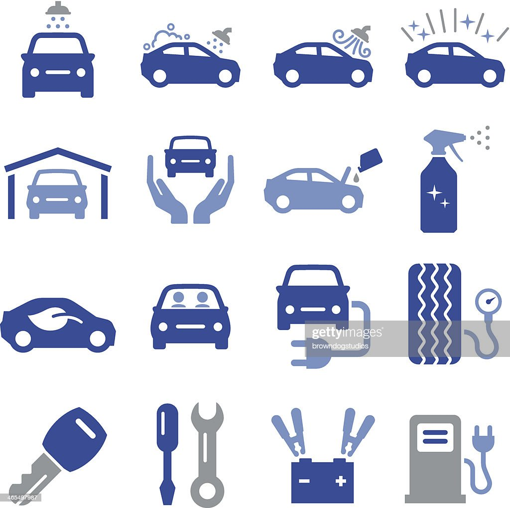 Car Maintenance Icons - Pro Series