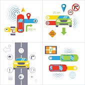 Car navigation. GPS navigation concept