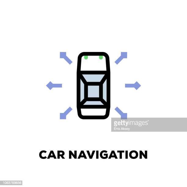 Car Navigation Line Icon