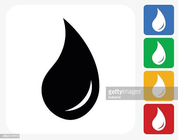 Car Oil Icon Flat Graphic Design