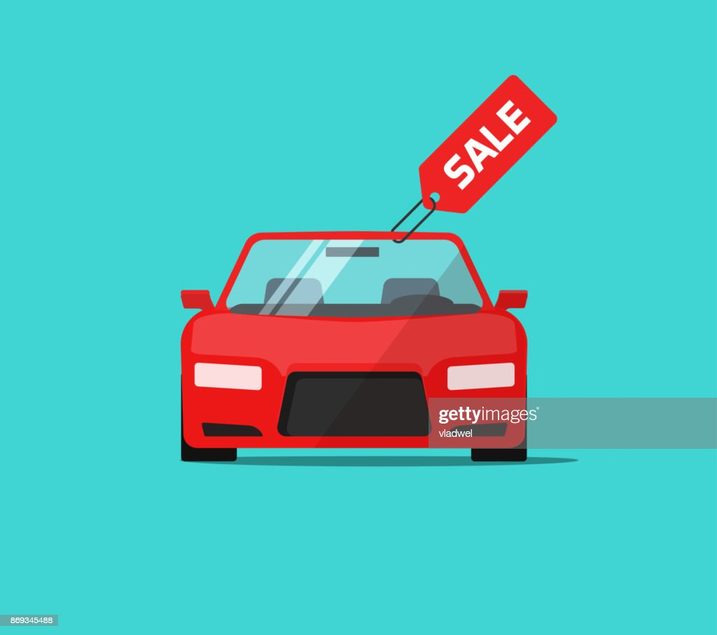 car or auto sale vector illustration flat cartoon design automobile