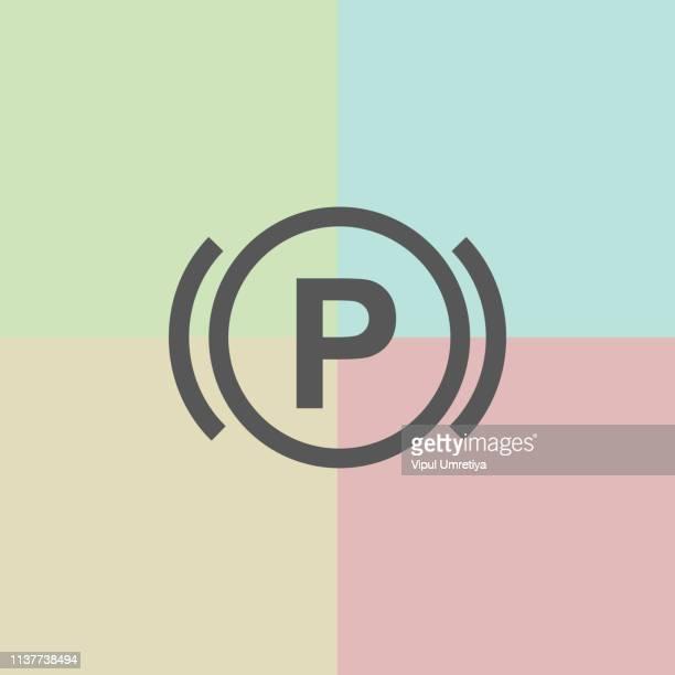 Car parking warning icon