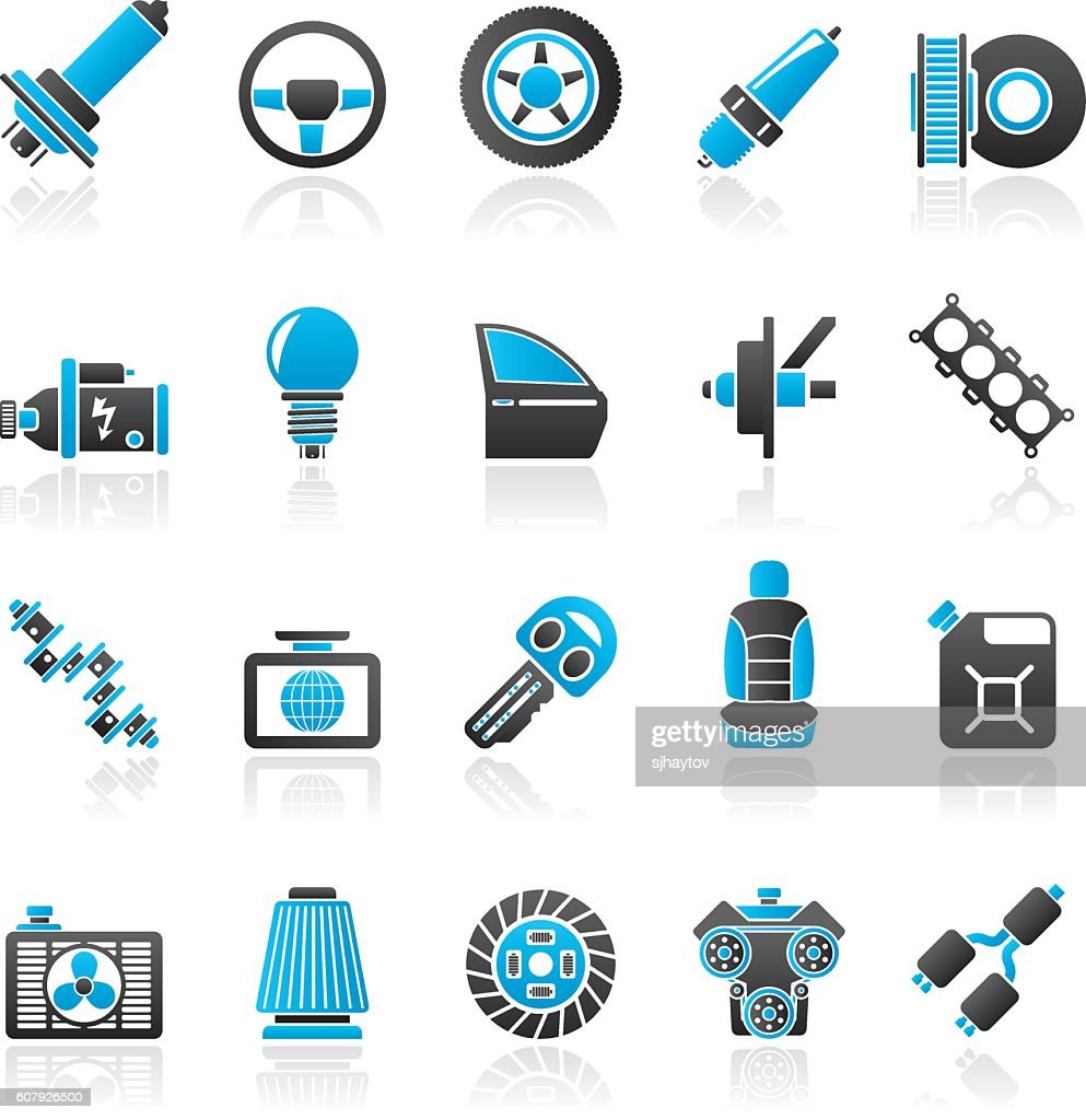 Car part and services icons 1