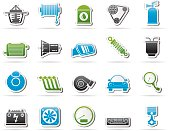 Car part and services icons 2