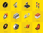 Car part icon and logo, Garage car services. vector illustration