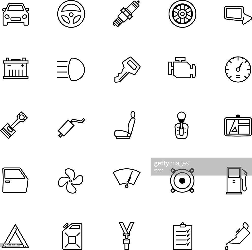 Car Parts Icon Set