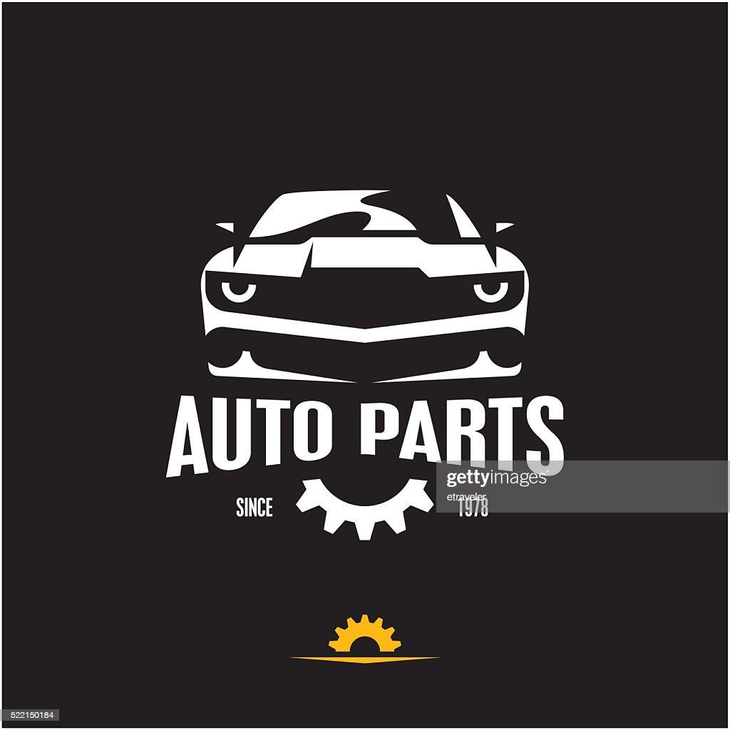 car parts icon, sports car silhouette