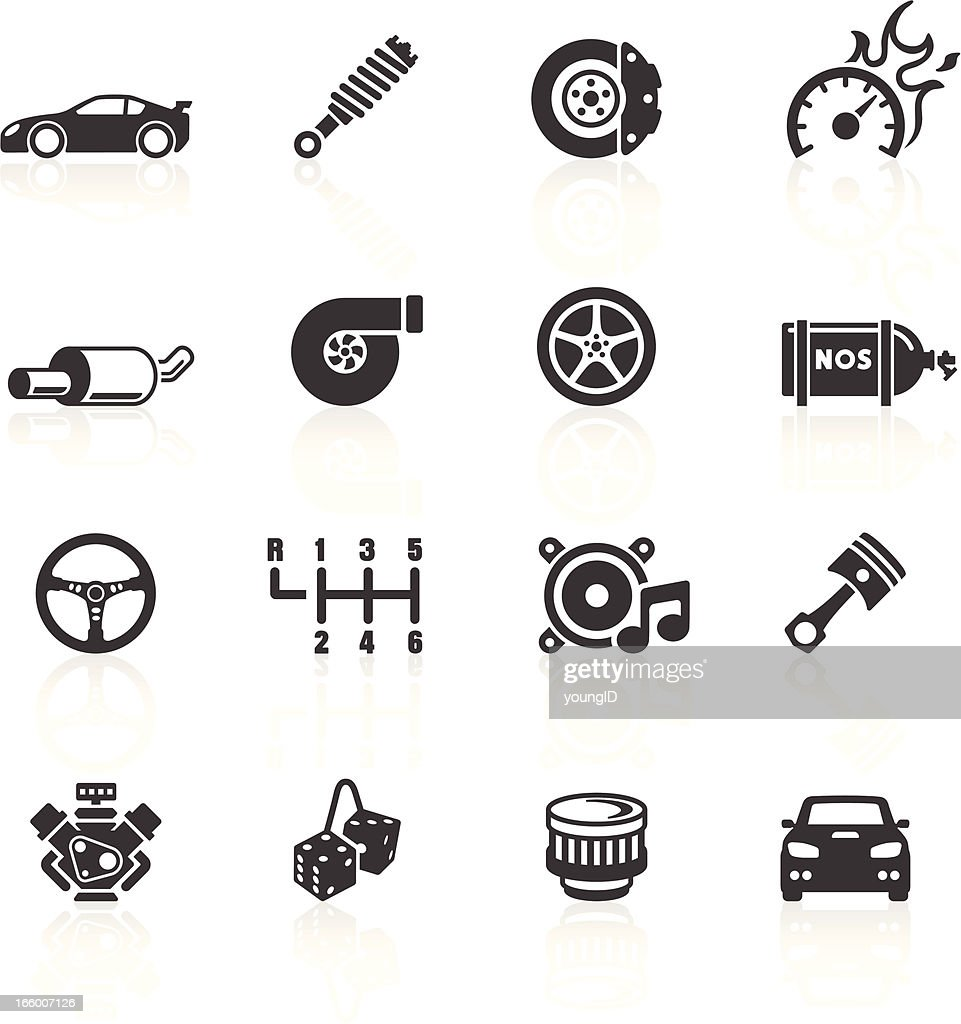 Car Parts & Performance Icons : stock illustration