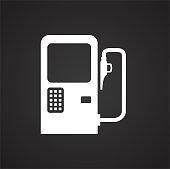 Car petrol station on black background for graphic and web design, Modern simple vector sign. Internet concept. Trendy symbol for website design web button or mobile app.