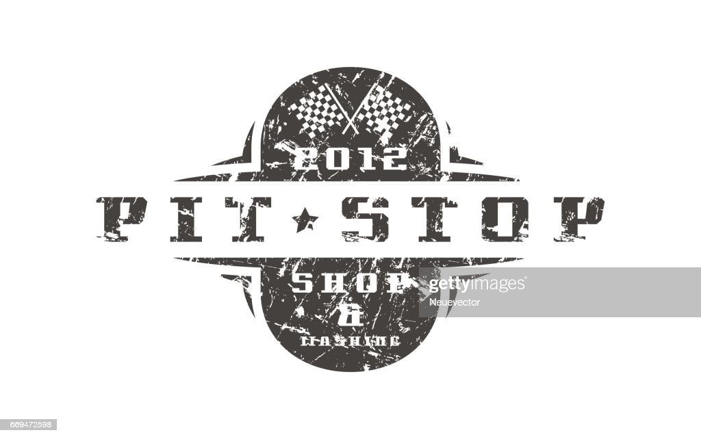 Car pit stop badge