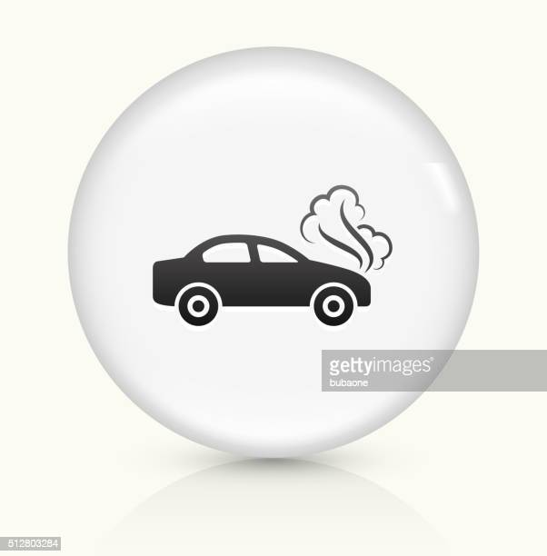 Car Problem icon on white round vector button