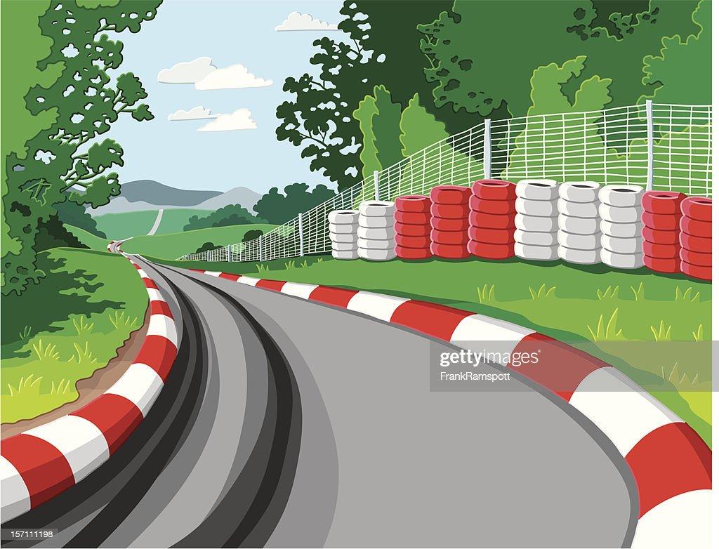 Car Racetrack : stock illustration