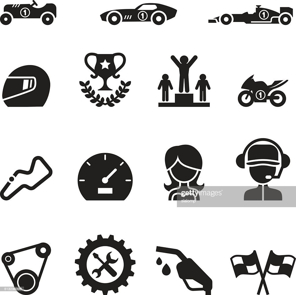 Car Racing icon set