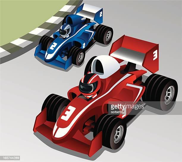 ilustraciones, imágenes clip art, dibujos animados e iconos de stock de carreras de coches - piloto de coches de carrera