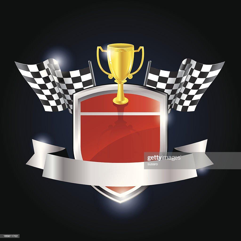 Car Racing Winner Badge