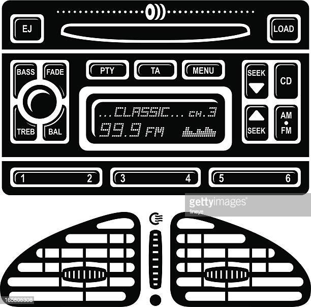 Car Radio Stereo and Air Vent Icons