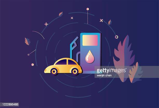 車給油グラフィックス - ヤードポンド法点のイラスト素材/クリップアート素材/マンガ素材/アイコン素材