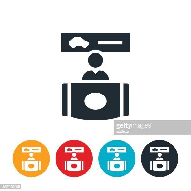 ilustraciones, imágenes clip art, dibujos animados e iconos de stock de icono de escritorio de alquiler de coches - alquiler de coche