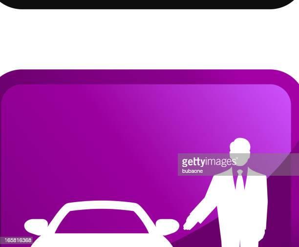 ilustraciones, imágenes clip art, dibujos animados e iconos de stock de alquiler de automóvil sin royalties de vector icon set pegatinas - alquiler de coche