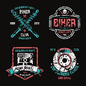 Car repair and biker club emblems