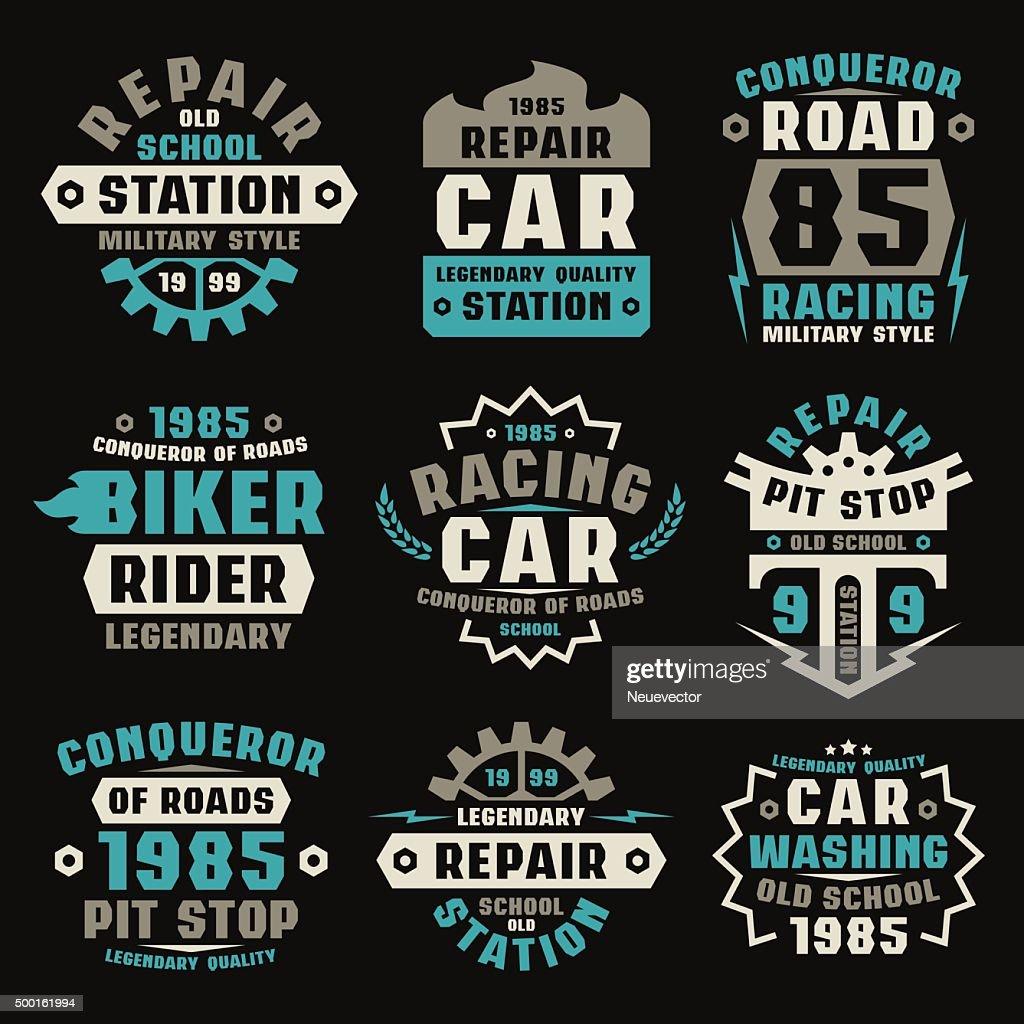 Car repair badges
