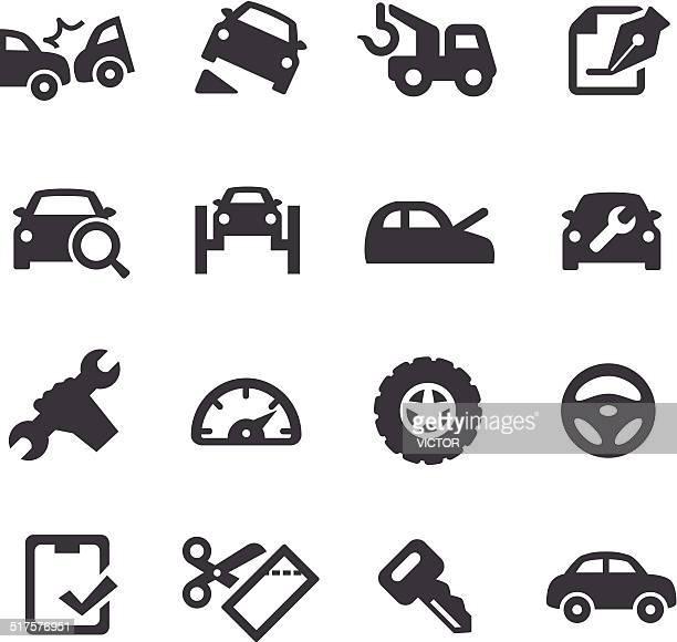 Iconos de reparación de automóviles de Acme serie