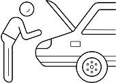Car repair line icon