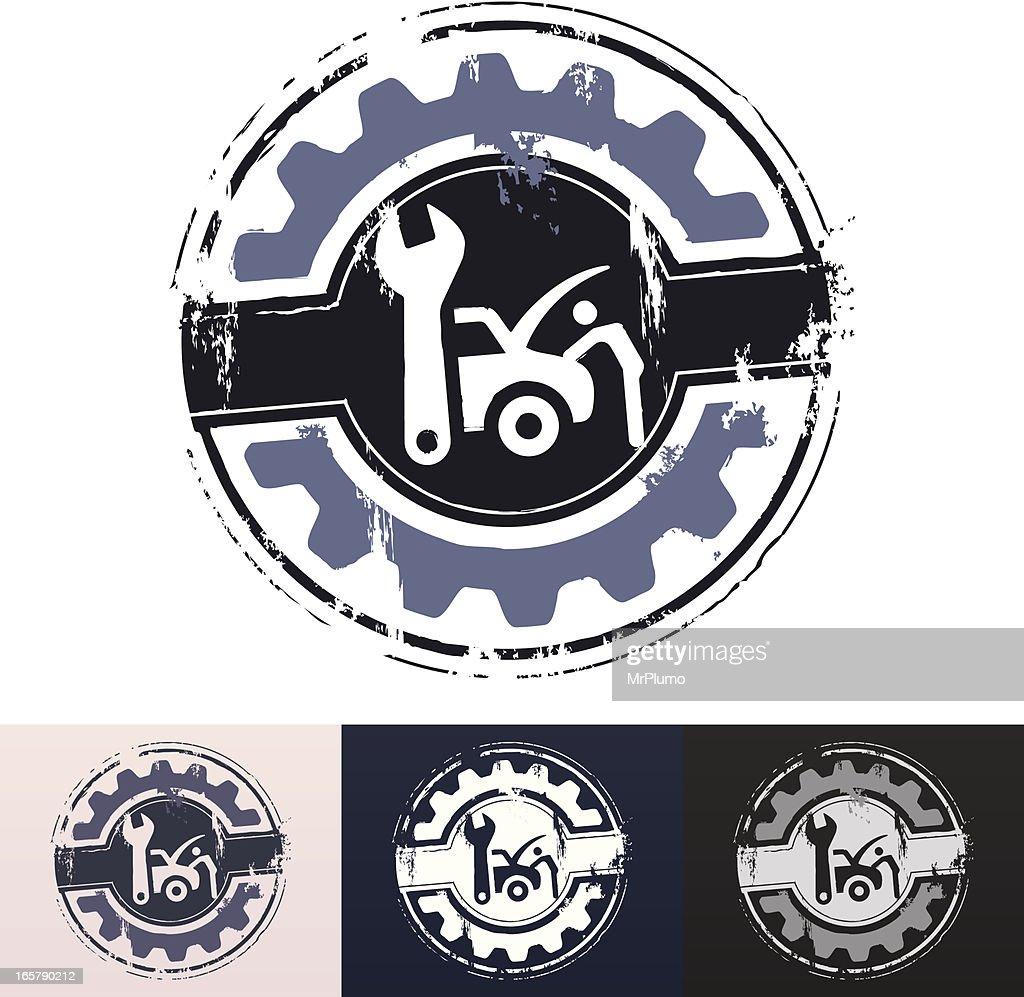 Car repair rubber stamp