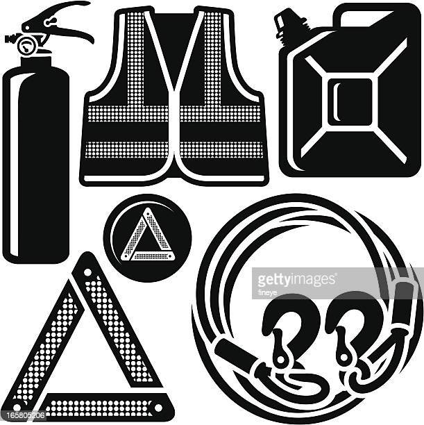 Car Safety Jacket, Fire Extinguisher, Towing Rope and more