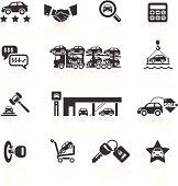 Car Sales & Auto Dealership Icons