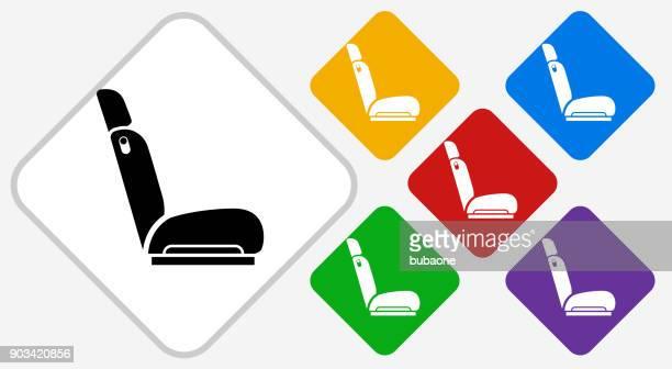 Autostoel kleur Diamond Vector Icon
