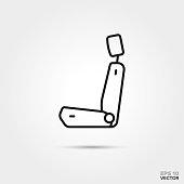 car seat vector icon