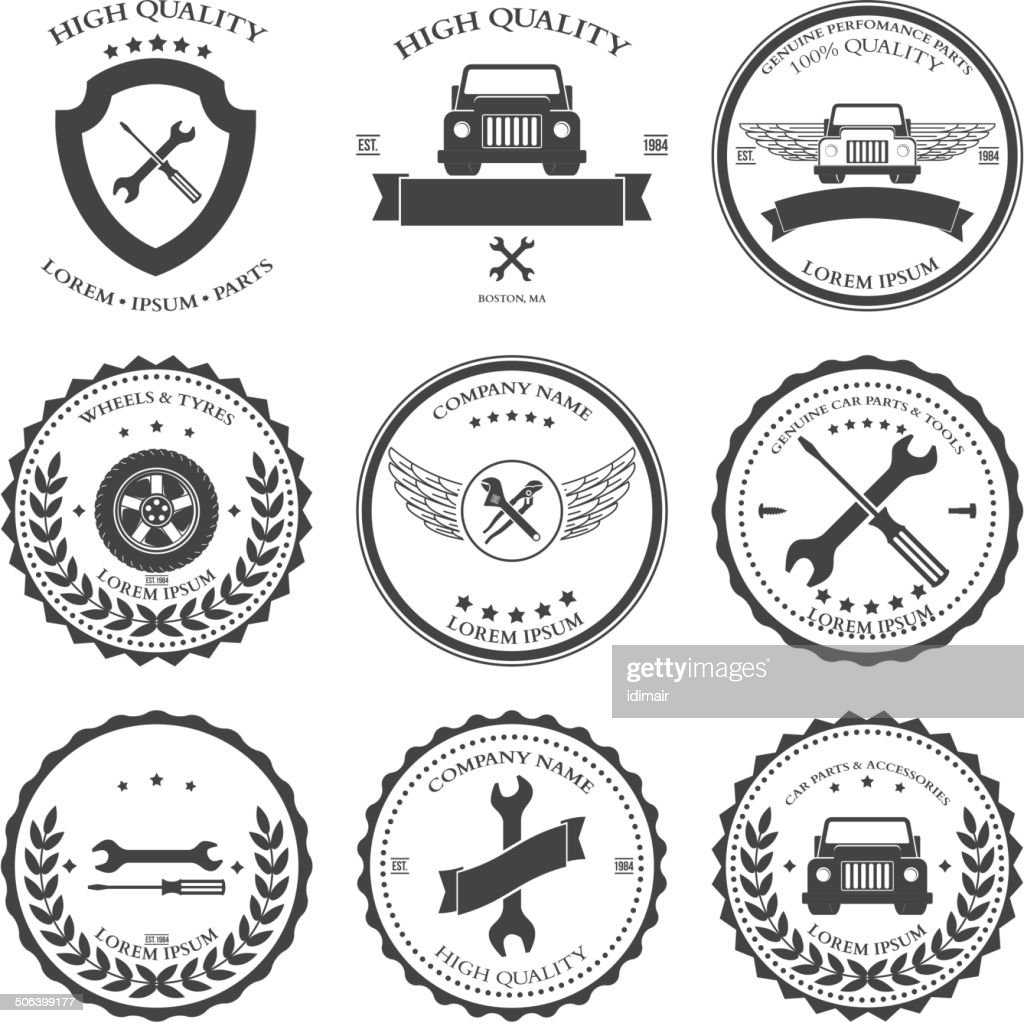 Car service Auto parts and tools Icons