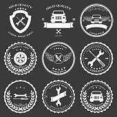 Car service. Auto parts. tools Icons set. Vector