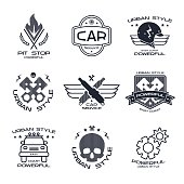 Car service badges and logo