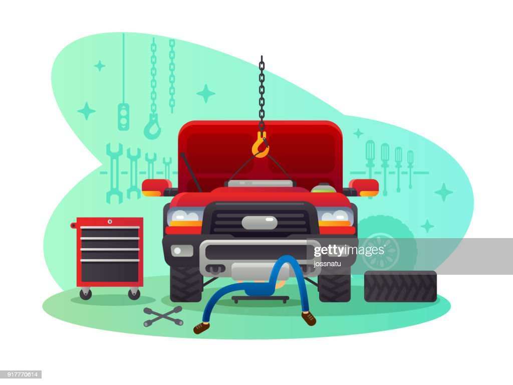 Car service, garage and workshop
