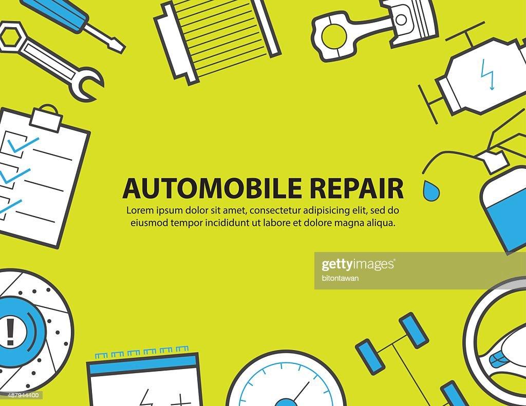car service ,garage, equipment background