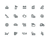 Car Service Icon Set - Thick Line Series