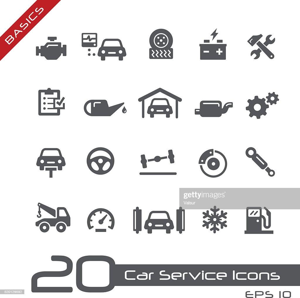 Car Service Icons - Basics