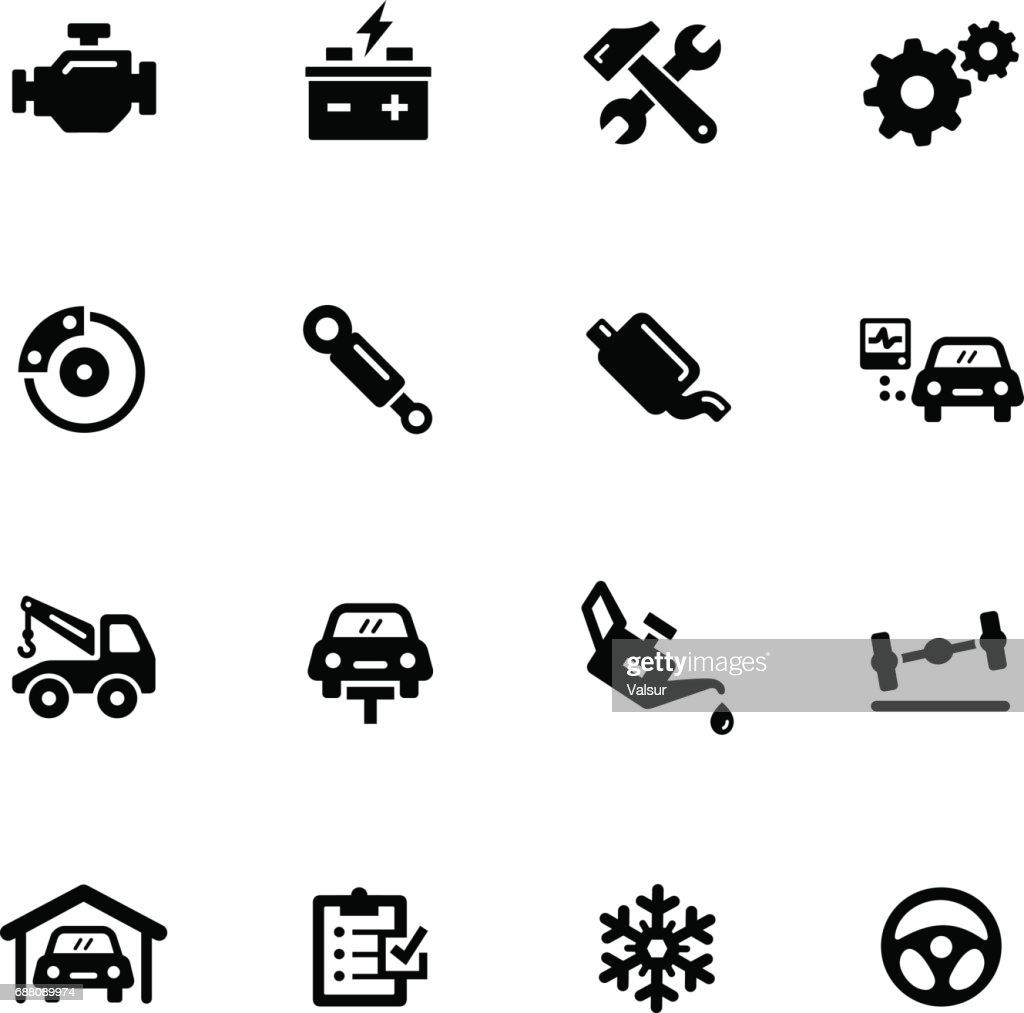 Car Service Icons // Black Series