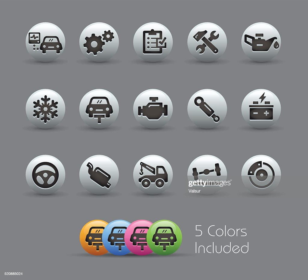 Car Service Icons - Pearly Series