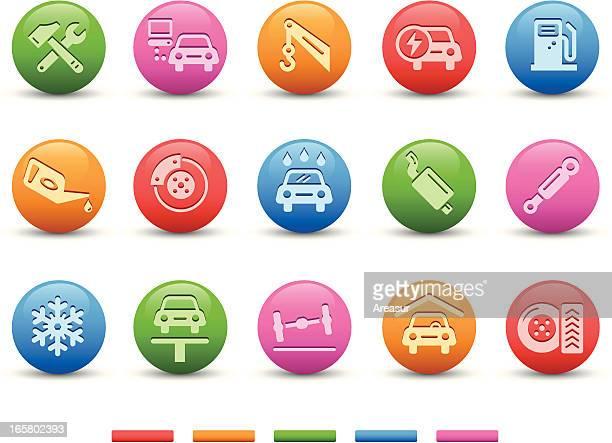 Car Service Icons | Satin Series