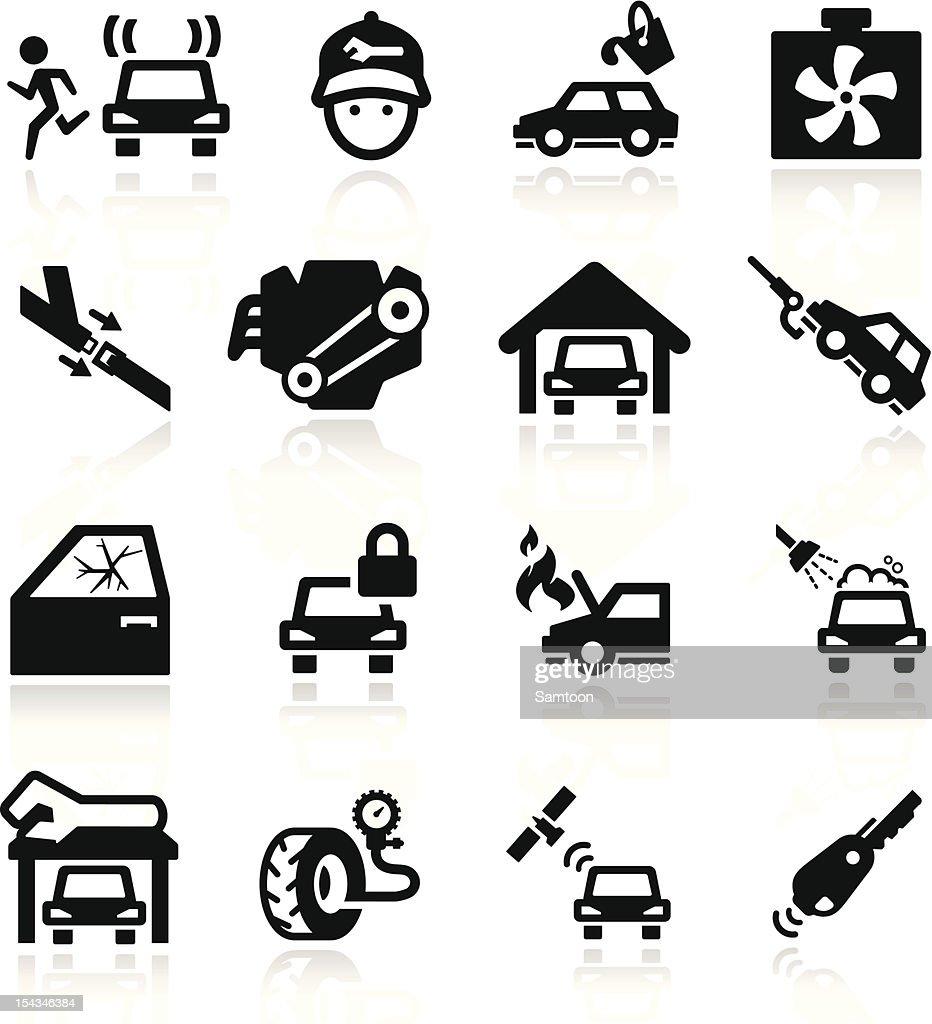 Car Service Icons set Elegant series