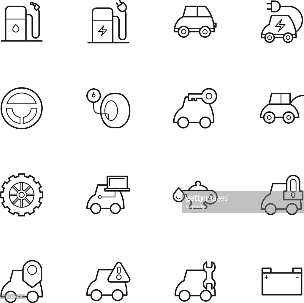 car service icons : stock illustration