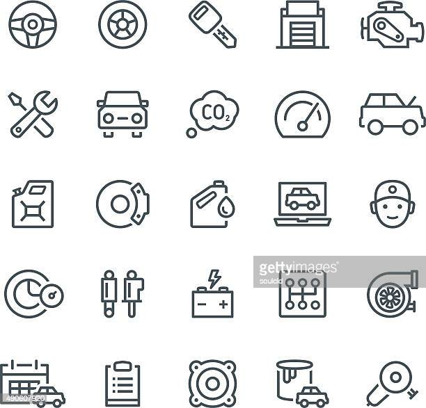 car service icons - car stock illustrations, clip art, cartoons, & icons