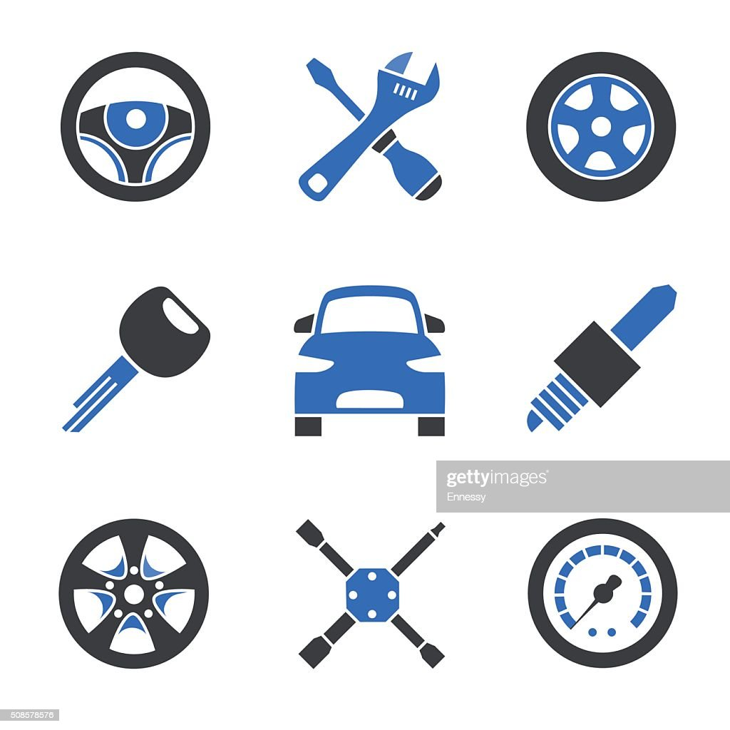 Car service icons : Vector Art