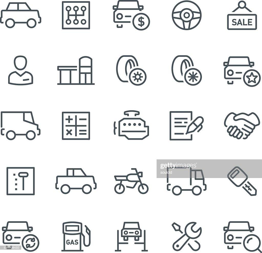 Auto servicio los iconos : Ilustración de stock
