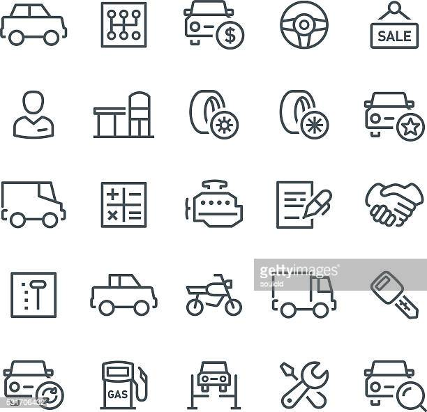car service icons - car salesperson stock illustrations, clip art, cartoons, & icons