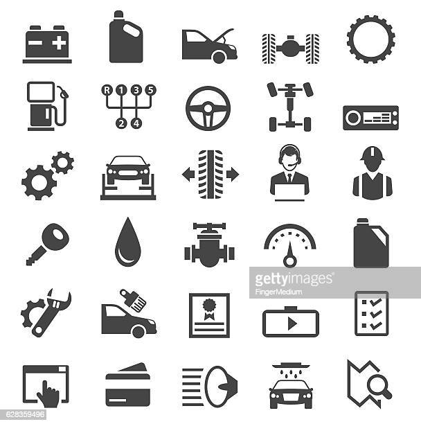 car service icons - gearshift stock illustrations, clip art, cartoons, & icons